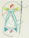10-2159 Nora Corbett Stitching Fairies-Needle Fairy Stitch count 105 x 142