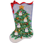 384d 11*19 Snowman tree  13 Mesh Rebecca Wood Designs