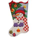 384i 11*19 Ball snowman 13 Mesh Rebecca Wood Designs
