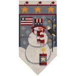 459g July Snowman banner 5.5 x 10.5 18 Mesh Rebecca Wood Designs