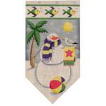 459f June Snowman banner 5.5 x 10.5 18 Mesh Rebecca Wood Designs