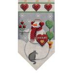 459b Feb. Snowman banner  5.5 x 10.5 18 Mesh Rebecca Wood Designs