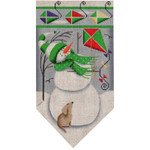 459c Mar. Snowman banner 5.5 x 10.5 18 Mesh Rebecca Wood Designs