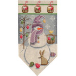 459d April Snowman banner 5.5 x 10.5 18 Mesh Rebecca Wood Designs