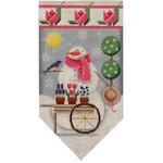 459e May Snowman banner 5.5 x 10.5 18 Mesh Rebecca Wood Designs