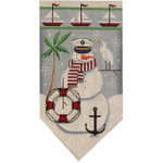 459h Aug. Snowman banner 5.5 x 10.5 18 Mesh Rebecca Wood Designs