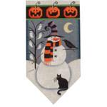459j Oct Snowman banner 5.5 x 10.5 18 Mesh Rebecca Wood Designs