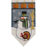 459k November Snowman banner 5.5 x 10.5 18 Mesh Rebecca Wood Designs