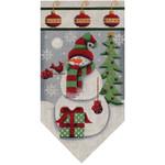 459L Dec Snowman banner 5.5 x 10.5 18 Mesh Rebecca Wood Designs