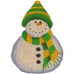 507m 4,4 Green cap snowman 18 Mesh Rebecca Wood Designs