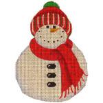 507l 4,4 Red scarf snowman 18 Mesh Rebecca Wood Designs
