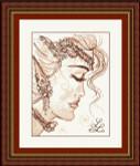 10-2317 Fae Face (Sepia Collection 2) by Passione Ricamo Passione Ricamo