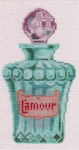 LL150Q L'Amour Perfume Bottle 2.75 x 5 18 Mesh Labors Of Love