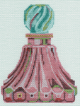 LL150R Pink Fluted Perfume Bottle  4x5 18 Mesh Labors Of Love