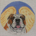 "CHD8 Bulldog Angel 4"" Round  Nenah Stone Designs 18 Mesh"