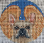 "CHD1 French Bulldog Angel 4"" Round Nenah Stone Designs 18 Mesh"
