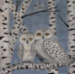 CH195 Birch Snowy Owls 8x8 Nenah Stone Designs 18 Mesh