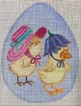 EA91 Duck & Chick Sm Egg 4x3 Nenah Stone Designs 18 Mesh