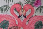 FF61 Flamingo Pair10x7 Nenah Stone Designs 18 Mesh