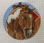"SC254 Western Saddlehorse 6"" Round Nenah Stone Designs 18 Mesh"