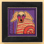 LB301613 Mill Hill Laurel Burch Goldie -  Dogs Collection (Linen)