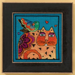 LB305104 Mill Hill Laurel Burch Feathered Friend - Cats Collection (Linen)