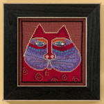 LB305105 Mill Hill Laurel Burch Red Cat - Cats Collection (Linen)