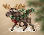 MH181303 Mill Hill Santa Ornament Kit Merry Moose (2011)
