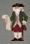 MH203301 Mill Hill Santa Ornament Kit Williamsburg Santa (2013)