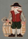MH203303 Mill Hill Santa Ornament Kit Plymouth Santa (2013)