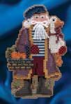 MH204302 Mill Hill Santa Ornament Kit Joyeux Noel Santa (2014)
