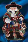 MH204303 Mill Hill Santa Ornament Kit Feliz Navidad Santa (2014)