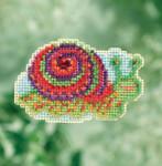 MH181714 Mill Hill Seasonal Ornament Kit Snail