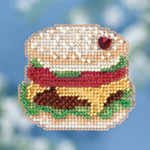MH181811 Mill Hill Seasonal Ornament Kit Hamburger