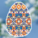 MH181815 Mill Hill Seasonal Ornament Kit Mosaic Egg
