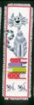PNV143914 Vervaco Kit Cat on Book Pile Bookmark