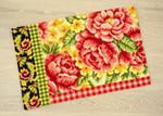 PNV148091 Vervaco Roses, Swirls & Plaid