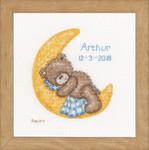 PNV166518 Vervaco Popcorn Bear Sleeping - Birth Announcement