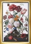 GOK785A Thea Gouverneur Kit Still Life with Flowers Glass Vase