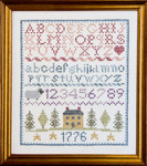 """PC2140 The Posy Collection Colonial Sampler 7"""" x 9""""; Stamped  Frame not included."""