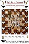 Rusty Crow Patterns Sad Sack Flowers 60 x 60