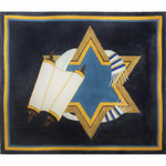 EA131 Torah and Scrolls with Star Alice Peterson 13 Mesh 14.5 x 12.5