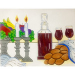 EA127 Challah Cover with Fruit Alice Peterson 19 x 14.5, 13M