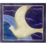 EA124 Silver Dove on Night Sky Alice Peterson  14.5 x 12.5, 13M
