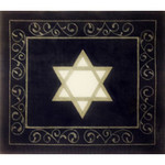 EA120 Silver and White Star on Navy Alice Peterson  15 X 13, 13M