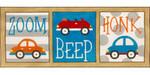 AP3729 Zoom Beep Honk Cars Alice Peterson 20.25 x 8.25, 13M