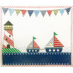 AP3724 Patterned Sailboats Alice Peterson 12 x 10, 13M