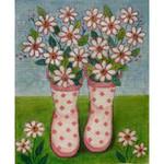 AP2970 Pink Polka Dot Rainboots Alice Peterson 9 X 11, 13M