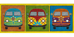 AP2965 Groovy VW Buses Alice Peterson 22.25 x 8.7, 13M