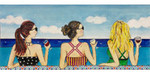 AP2962 Girls on the Beach Alice Peterson 11.5 x 5, 18M